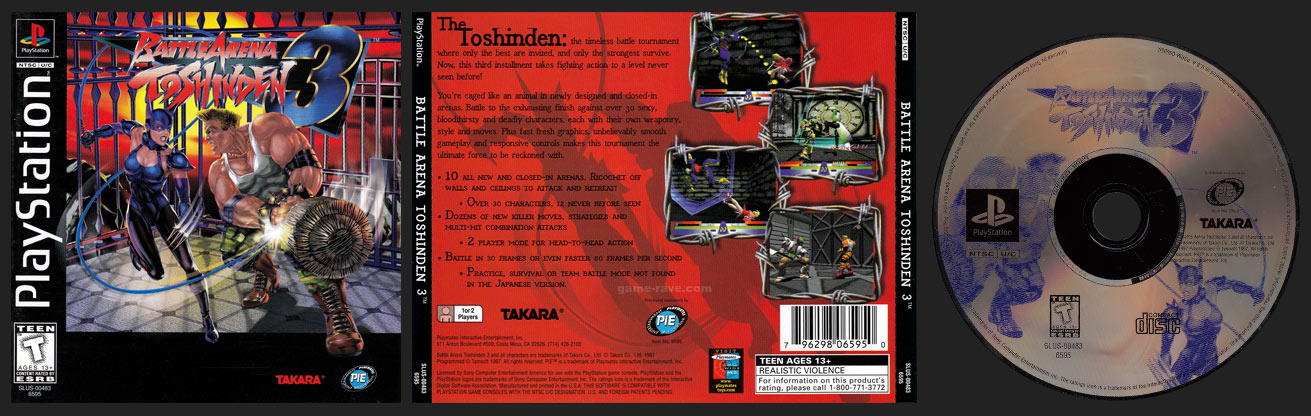 Battle Arena Toshinden 3 Game Rave Com Playstation Collector S