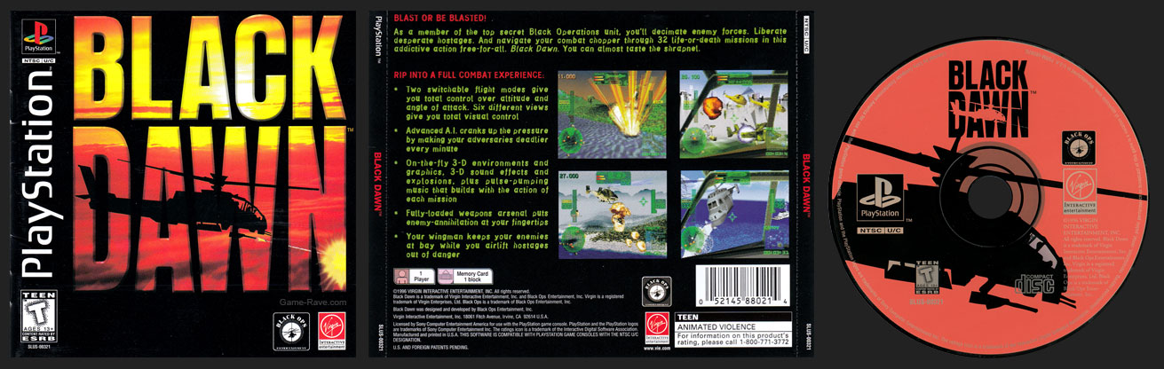 Black Dawn - game-rave com - PlayStation Collector's Site