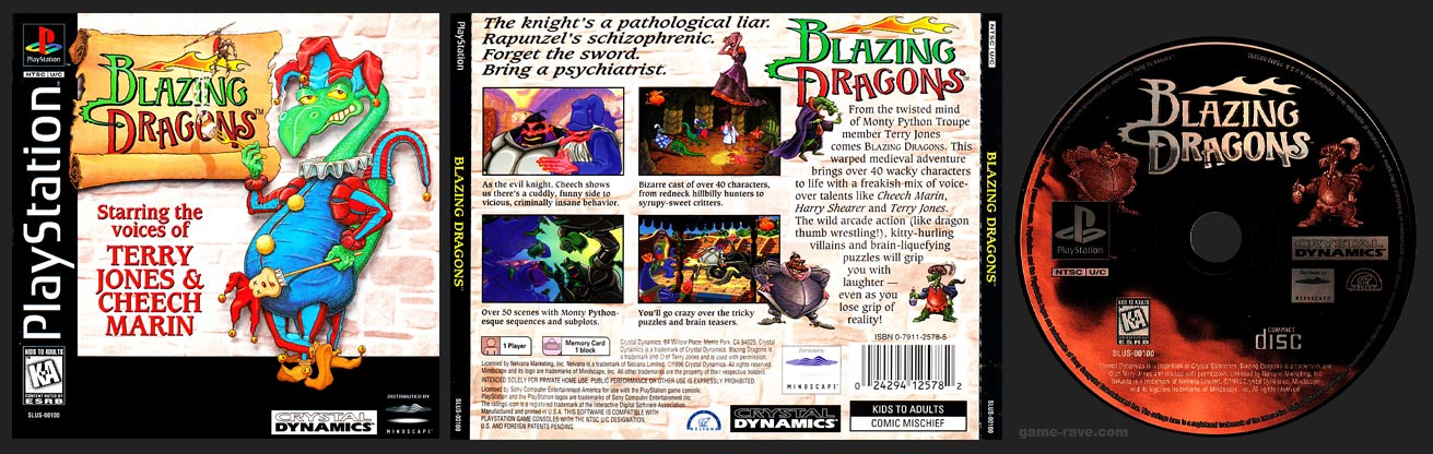 PSX PlayStation Blazing Dragons 1 Ring Hub Variant Release