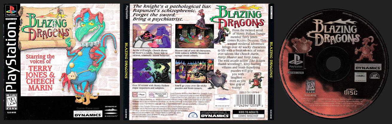 PSX PlayStation Blazing Dragons 1 Ring Hub Variant Black Label Retail Release