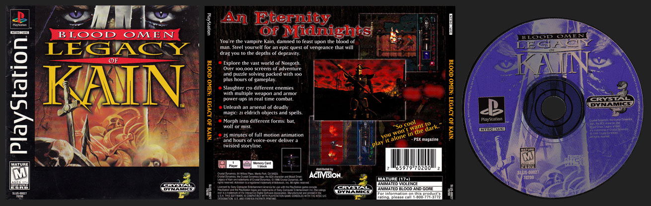 blood omen legacy of kain pc