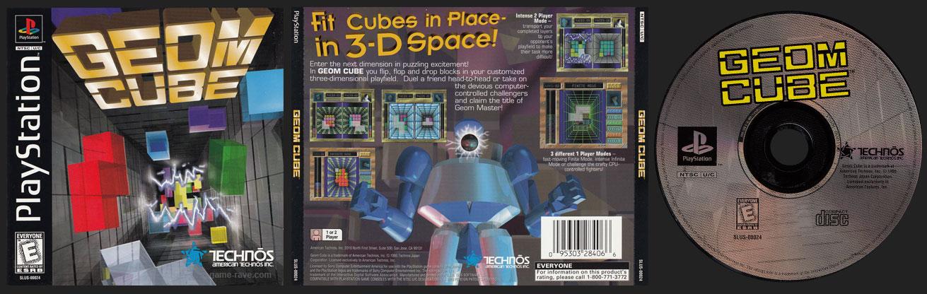 PSX PlayStation Geom Cube Black Label Jewel Case Retail Release