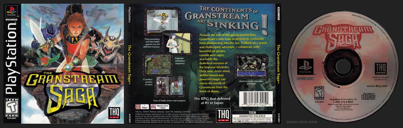 PSX PlayStation The Granstream Saga Black Label Retail Release