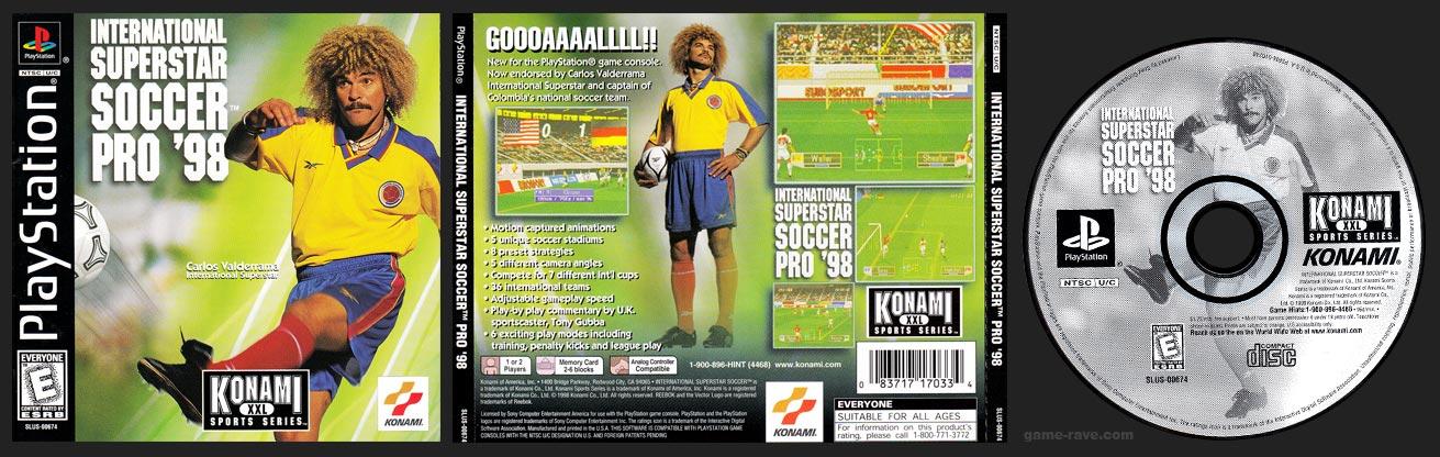 Jewel Case Release of International Superstar Soccer Pro 98 release