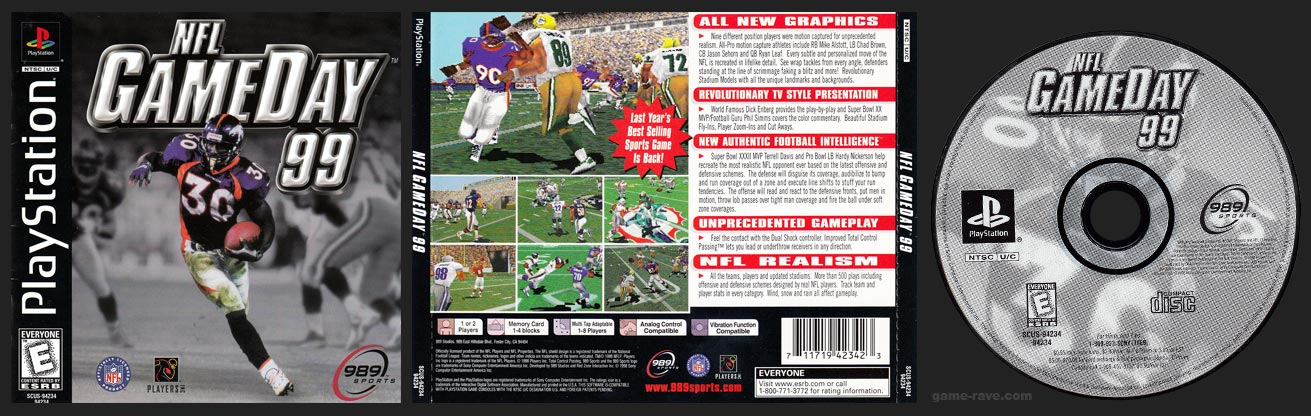 NFL Gameday 99 Jewel Case Release