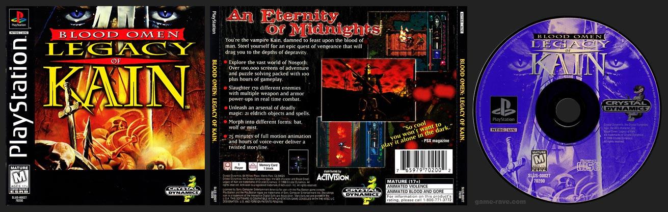 PSX PlayStation Blood Omen Legacy of Kain 1-Ring Hub Vairant
