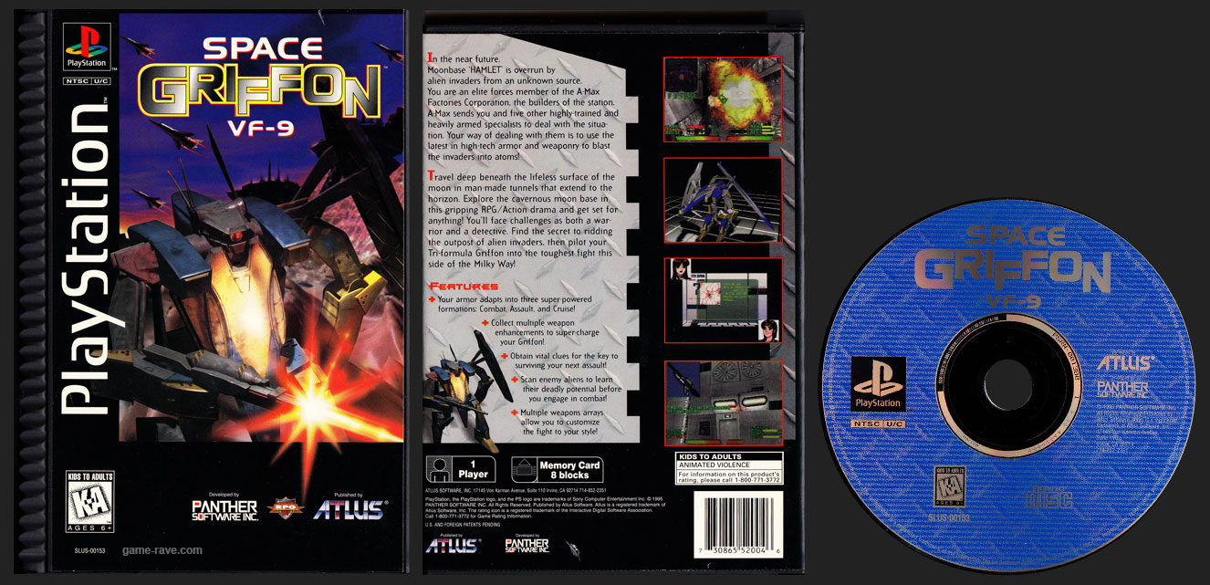 PSX PlayStation Space Griffon VF-9