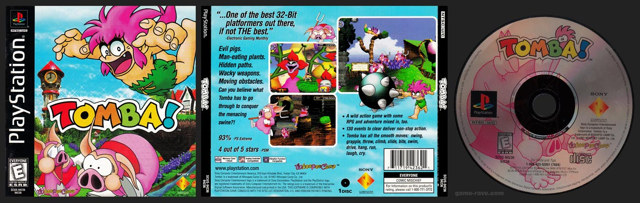 PSX PlayStation Tomba! Black Label Retail Release