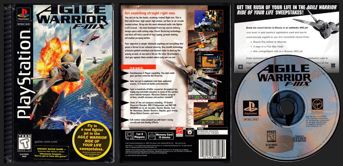 PlayStation Agile Warrior F-IIIX Plastic Ridge Long Box