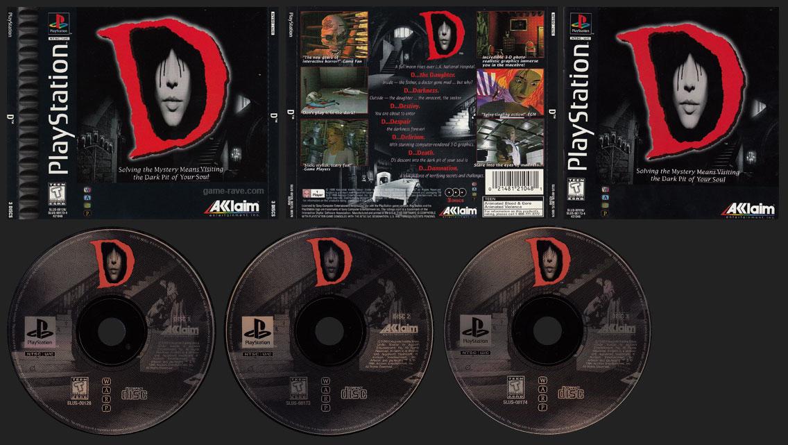 PSX PlayStation D Black Label Double Jewel Case Retail Release