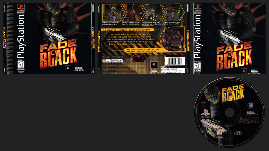 PSX PlayStation Fade To Black Black Label Retail Release Double Jewel Case Variant