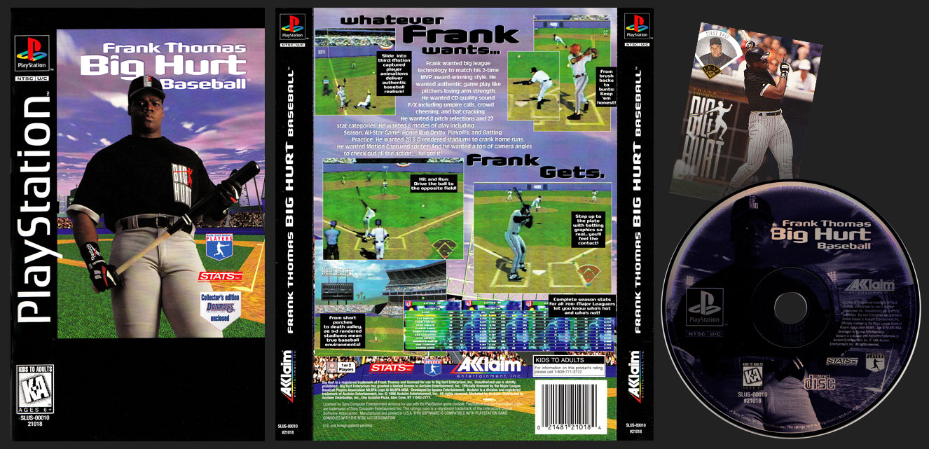 PSX PlayStation Frank Thomas Big Hurt Baseball Black Label Retail Release