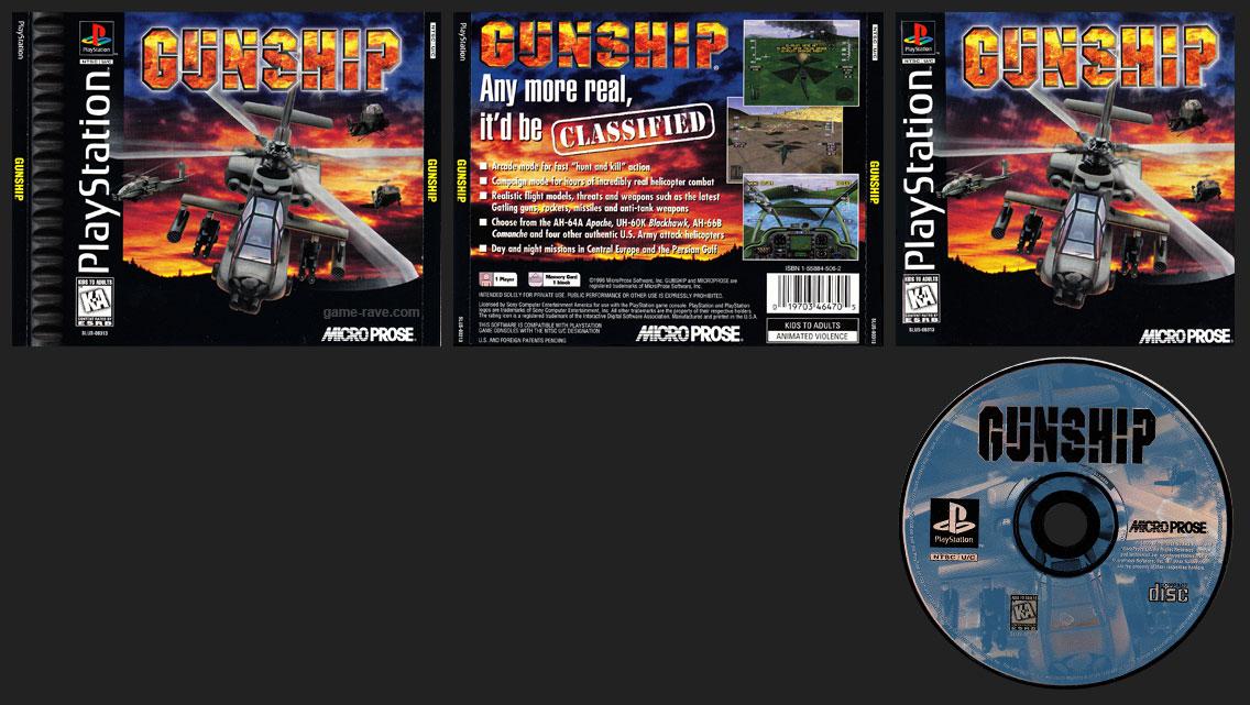 PSX PlayStation Gunship Black Label Retail Release
