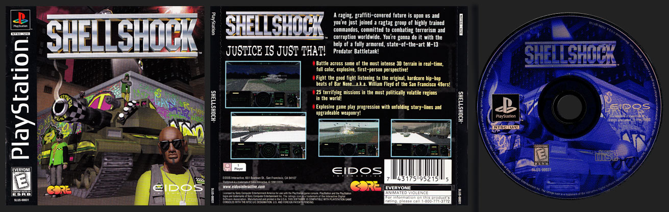PSX PlayStation Shell Shock Jewel Case Variant Black Label Retail Release