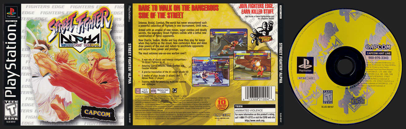 PSX PlayStation Street Fighter Alpha: Warrior's Dreams