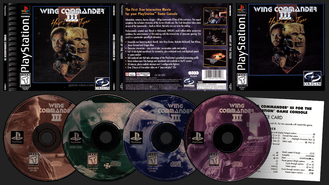 Wing Commander Iii Heart Of The Tiger Game Rave Com Psx Long Box