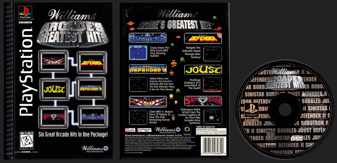 Arcade's Greatest Hits: Williams (Midway Vol  1) - game-rave com
