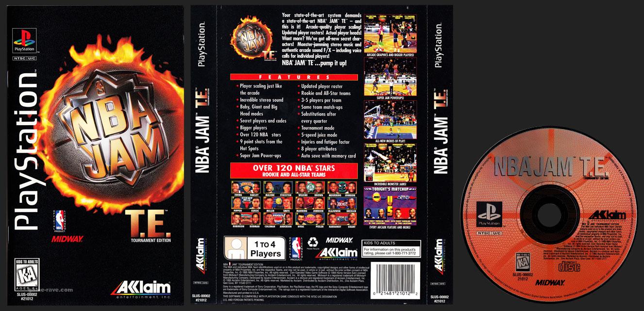 PSX PlayStation NBA Jam T.E. (Tournament Edition) Clear Plastic Long Box Black Retail Release