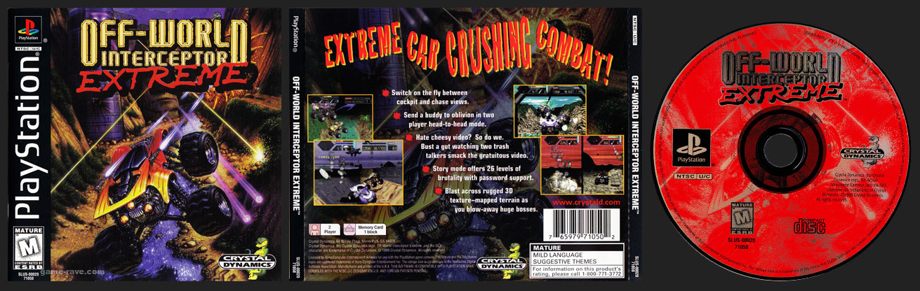 PSX PlayStation Off-World Interceptor Jewel Case Black Label Retail Release