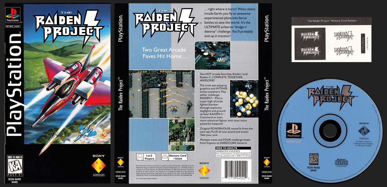 PSX PlayStation The Raiden Project Clear Case Long Box Black Label Retail Release