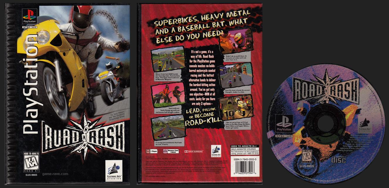 PSX PlayStation Road Rash Flat Cardboard Long Box Release