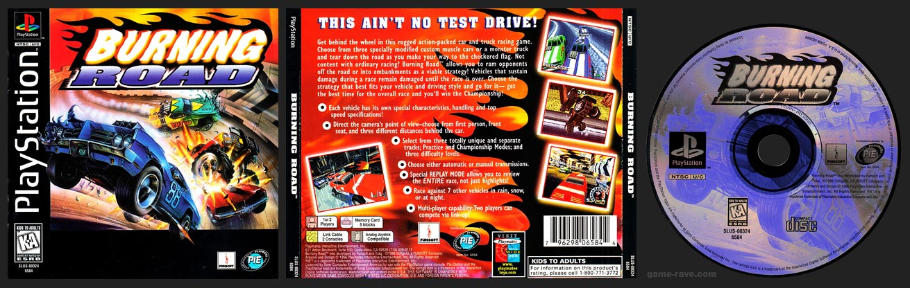 PSX PlayStation Burning Road 1-Ring Hub Variant