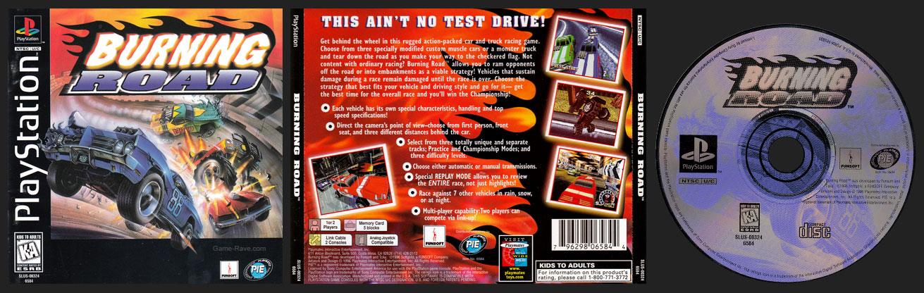 PSX PlayStation Burning Road 2 Ring Hub Variant