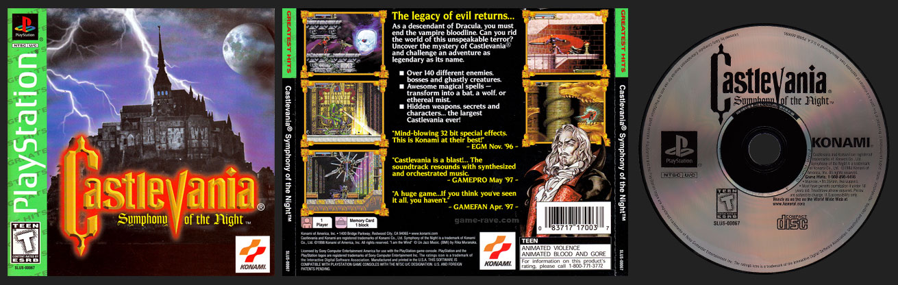 Castlevania Greatest Hits Release