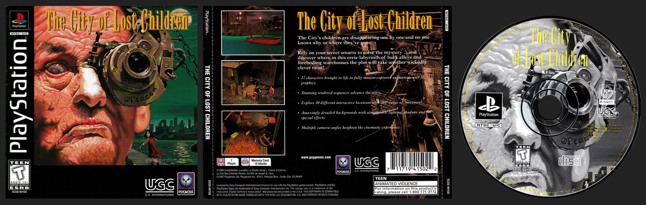 The City of Lost Children Jewel Case Release