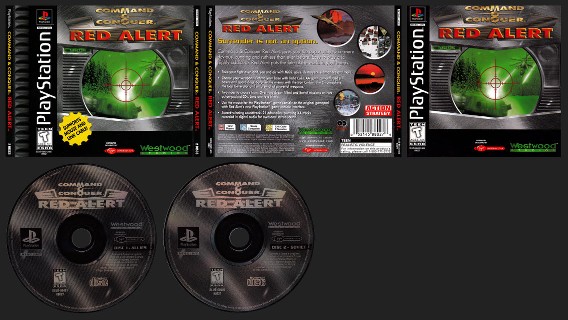 Command & Conquer: Red Alert Double Jewel Case