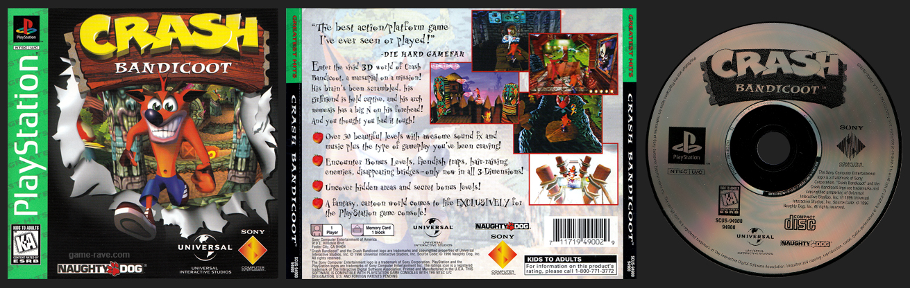Crash Bandicoot Greatest Hits Release