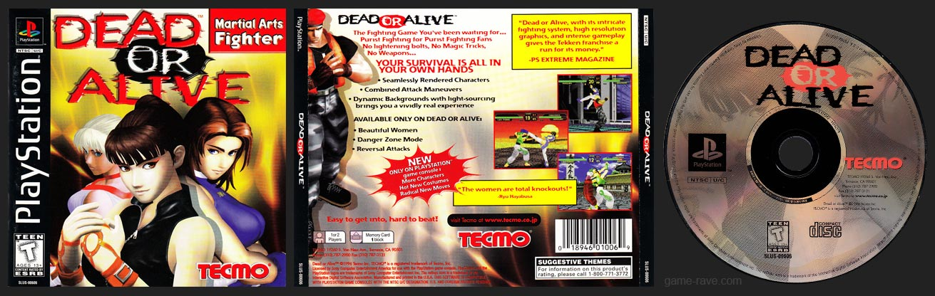 Dead or Alive Jewel Case Release