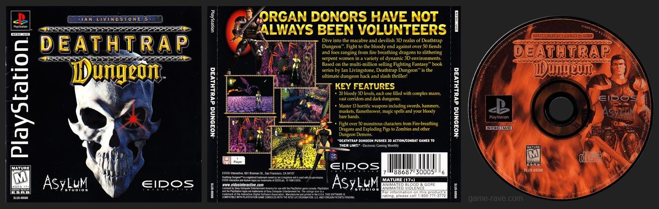 PSX PlayStation Deathtrap Dungeon Black Label Retail Release