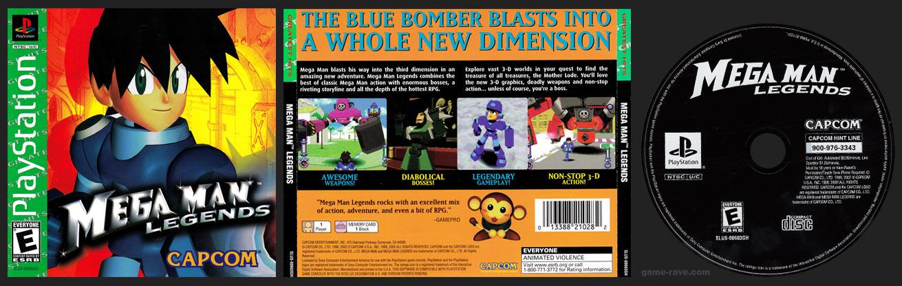 PSX PlayStation Mega Man Legends Greatest Hits Retail Release