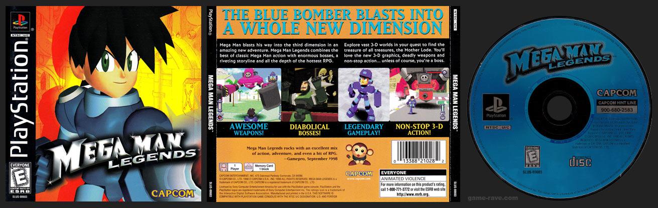 PSX PlayStation Mega Man Legends Black Label Retail Release
