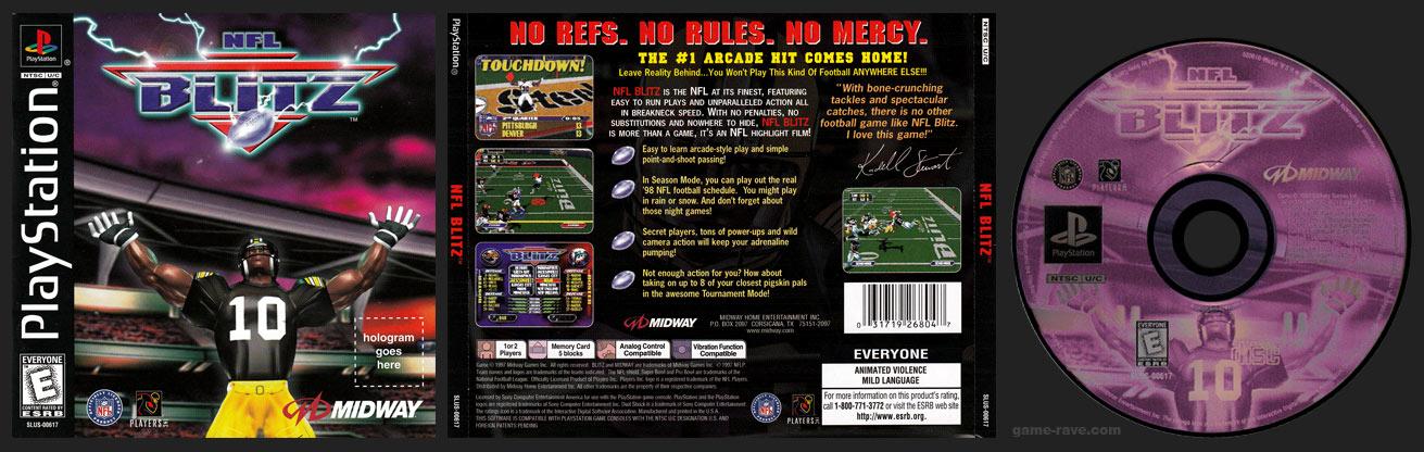 PSX PlayStation NFL Blitz Black Label Retail Release