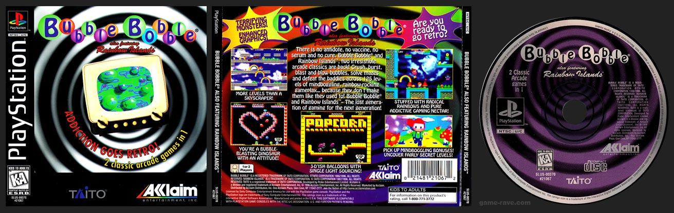 PSX PlayStation Bubble Bobble 2-Ring Hub Variant