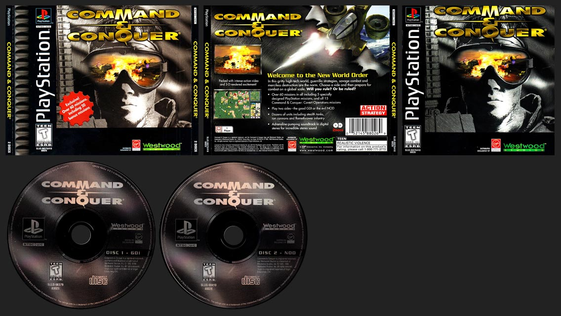 PSX PlayStation Command and Conquer 1-Ring Hub Variant
