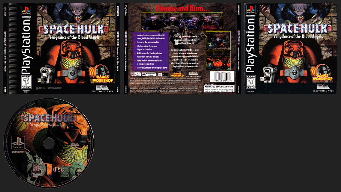 PSX PlayStation Space Hulk Vengeance of the Blood Angels Black Label Retail Release