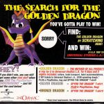 PSX PlayStation Spyro The Dragon Sweepstakes Scratch Off Card