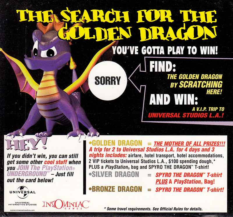 Spyro the Dragon - game-rave com - PlayStation Collector's Site