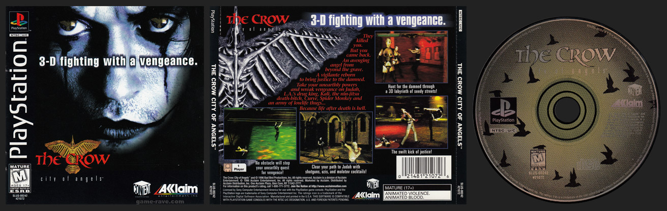 Crow City of Angels Jewel Case Release