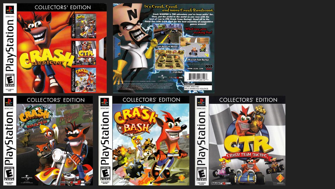 Crash Bandicoot Collector's Edition Contents
