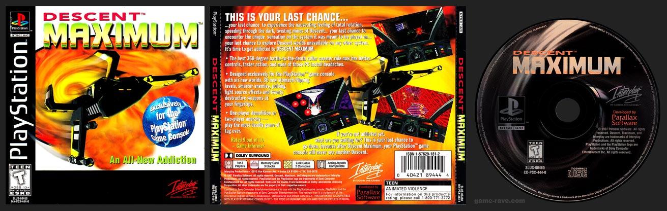PSX PlayStation Descent Maximum 2 Ring Hub Variant Black Label Retail Release
