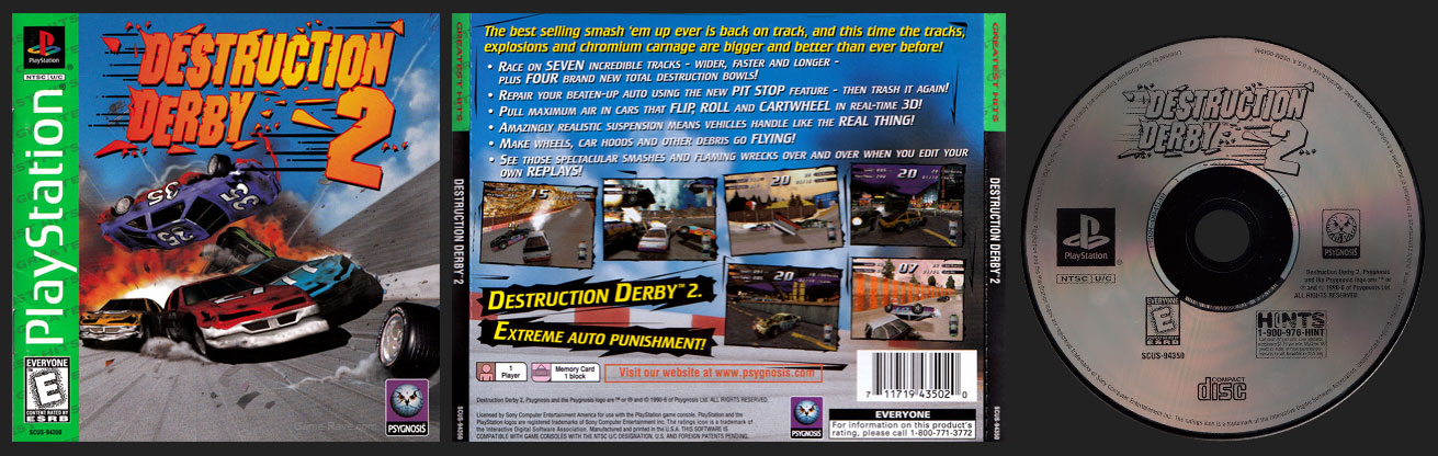 Destruction Derby 2 Greatest Hits Release