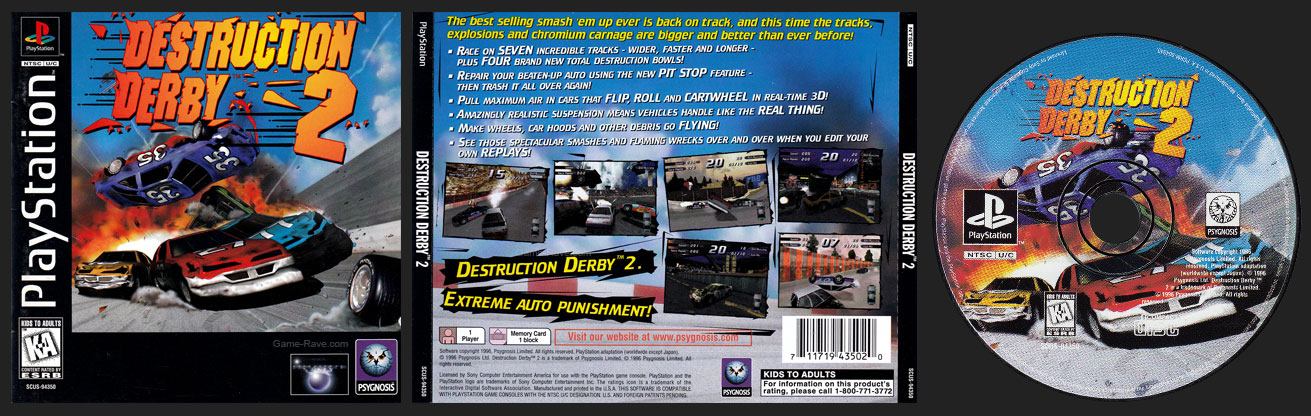 Destruction Derby 2 Jewel Case Release