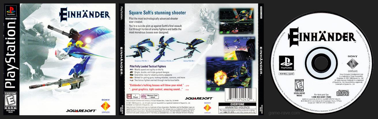 PSX PlayStation Einhander Black Label Retail Release