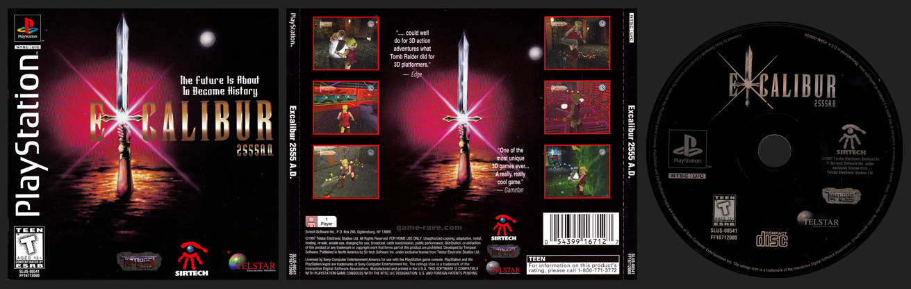 Excalibur 2555 A.D. Release