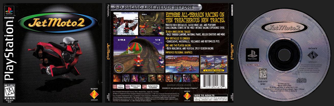 PSX PlayStation Jet Moto 2 Black Label Retail Release