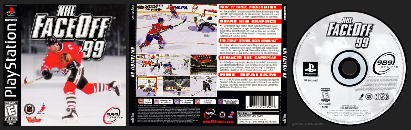 NHL Faceoff 99 Release